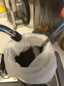 adding water to cold brew coffee