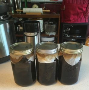 cold brew coffee in canning jars done