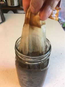 removing filter cold brew coffee