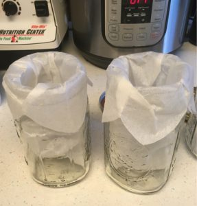 best way to make cold brew coffee empty jars with filters
