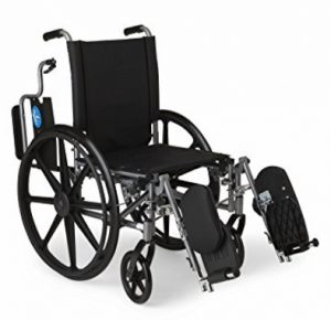 wheelchair with foldback arms flip up